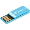 Verbatim 8GB Clip-It USB Flash Drive - Caribbean Blue - 8 GB - Blue - 1 Pack - Water Resistant, Dust Resistant""