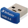 Verbatim 16GB Store 'n' Stay Nano USB 3.0 Flash Drive - Blue - 16 GB - Blue - 1 Pack
