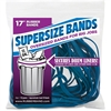"SuperSize Bands 17"" Blue Rubber Bands - 250 mil Thickness - Reusable - 12 / Pack - Blue"