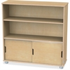 "TrueModern Bookcase Storage - 2 Compartment(s) - 36"" Height x 36"" Width x 12"" Depth - Baltic - Anodized Aluminum, Birch - 1Each"