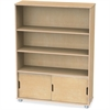 "TrueModern Bookcase Storage - 3 Compartment(s) - 48"" Height x 36"" Width x 12"" Depth - Baltic - Anodized Aluminum, Birch - 1Each"