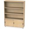 "TrueModern Bookcase Storage - 3 Compartment(s) - 48"" Height x 36"" Width x 12"" Depth - Baltic - Anodized Aluminum, Birch - 1Each"