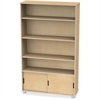 "TrueModern Bookcase Storage - 4 Compartment(s) - 60"" Height x 36"" Width x 12"" Depth - Baltic - Anodized Aluminum, Birch - 1Each"