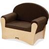 "Jonti-Craft Komfy Chair - Fabric Espresso Seat - Baltic - Acrylic - 26.5"" Width x 19.5"" Depth x 23"" Height"