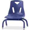 "Berries Stacking Chair - Steel Frame - Four-legged Base - Blue - Polypropylene - 15.5"" Width x 16.5"" Depth x 17.5"" Height"