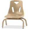 "Berries Stacking Chair - Steel Frame - Four-legged Base - Camel - Polypropylene - 15.5"" Width x 16.5"" Depth x 17.5"" Height"