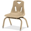 "Berries Stacking Chair - Steel Frame - Four-legged Base - Camel - Polypropylene - 15.5"" Width x 13.5"" Depth x 20"" Height"