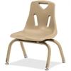 "Berries Stacking Chair - Steel Frame - Four-legged Base - Camel - Polypropylene - 15.5"" Width x 13.5"" Depth x 20"" Height"