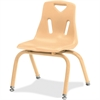 "Berries Stacking Chair - Steel Frame - Four-legged Base - Camel - Polypropylene - 15.5"" Width x 15.5"" Depth x 22"" Height"