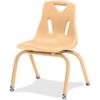 "Berries Stacking Chair - Steel Frame - Four-legged Base - Camel - Polypropylene - 15.5"" Width x 15.5"" Depth x 22"" Height"