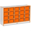 "Rainbow Accents 20 Cubbie-Tray - 29.5"" Height x 48"" Width x 15"" Depth - Orange - Rubber - 1Each"