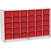 "Rainbow Accents Cubbie-Tray Mobile Storage - 30 Compartment(s) - 35.5"" Height x 57.5"" Width x 15"" Depth - Red - Rubber - 1Each"