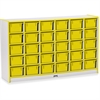 "Rainbow Accents Cubbie-Tray Mobile Storage - 30 Compartment(s) - 35.5"" Height x 57.5"" Width x 15"" Depth - Yellow - Rubber - 1Each"