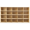"young Time 25 Tray Cubbie Storage - 32.5"" Height x 48"" Width x 15"" Depth - Maple - 2 / Each"