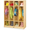 "Jonti-Craft 4 Section Coat Locker - 4 Compartment(s) - 50.5"" Height x 39"" Width x 15"" Depth - Baltic - Acrylic - 1Each"