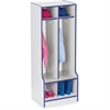 "Rainbow Accents Double Coat Hooks Step Locker - 2 Compartment(s) - 50.5"" Height x 20"" Width x 17.5"" Depth - Blue - 1Each"