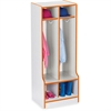 "Rainbow Accents Double Coat Hooks Step Locker - 2 Compartment(s) - 50.5"" Height x 20"" Width x 17.5"" Depth - Orange - 1Each"