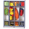 "Rainbow Accents 4 Section Coat Locker - 4 Compartment(s) - 50.5"" Height x 39"" Width x 15"" Depth - Blue - 1Each"