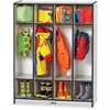 "Rainbow Accents 4 Section Coat Locker - 4 Compartment(s) - 50.5"" Height x 39"" Width x 15"" Depth - Black - 1Each"
