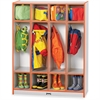 "Rainbow Accents 4 Section Coat Locker - 4 Compartment(s) - 50.5"" Height x 39"" Width x 15"" Depth - Orange - 1Each"