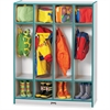 "Rainbow Accents 4 Section Coat Locker - 4 Compartment(s) - 50.5"" Height x 39"" Width x 15"" Depth - Teal - 1Each"