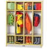 "Rainbow Accents 4 Section Coat Locker - 4 Compartment(s) - 50.5"" Height x 39"" Width x 15"" Depth - Yellow - 1Each"