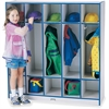 "Rainbow Accents 5 Section Coat Locker - 5 Compartment(s) - 50.5"" Height x 48"" Width x 15"" Depth - Blue - 1Each"