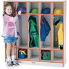 "Rainbow Accents 5 Section Coat Locker - 5 Compartment(s) - 50.5"" Height x 48"" Width x 15"" Depth - Orange - 1Each"