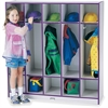 "Rainbow Accents 5 Section Coat Locker - 5 Compartment(s) - 50.5"" Height x 48"" Width x 15"" Depth - Purple - 1Each"
