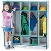 "Rainbow Accents 5 Section Coat Locker - 5 Compartment(s) - 50.5"" Height x 48"" Width x 15"" Depth - Teal - 1Each"