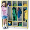 "Rainbow Accents 5 Section Coat Locker - 5 Compartment(s) - 50.5"" Height x 48"" Width x 15"" Depth - Yellow - 1Each"