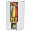 "Rainbow Accents 3-double Hooks Step Corner Coat Locker - 50.5"" Height x 24"" Width x 17.5"" Depth - Black - 1Each"