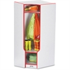 "Rainbow Accents 3-double Hooks Step Corner Coat Locker - 50.5"" Height x 24"" Width x 17.5"" Depth - Red - 1Each"