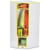 "Rainbow Accents 3-double Hooks Step Corner Coat Locker - 50.5"" Height x 24"" Width x 17.5"" Depth - Yellow - 1Each"