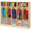 "Jonti-Craft Large Locker Organizer - 4 Tier(s) - 50.5"" Height x 60"" Width x 15"" Depth - Baltic - Wood, Medium Density Fiberboard (MDF) - 1Each"