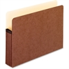 "Pendaflex Extra Strong Acid Free File Pockets - Letter - 8 1/2"" x 11"" Sheet Size - 1050 Sheet Capacity - 5 1/4"" Expansion - Fiber, Manila, Redrope - Redrope - 1 Each"