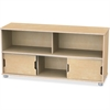 "TrueModern Storage Shelves - 24"" Height x 48.5"" Width x 15"" Depth - Baltic - Anodized Aluminum, Baltic Birch - 1Each"
