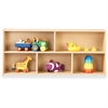 "young Time Toddler Two Shelf Storage - 2 Compartment(s) - 21.5"" Height x 48"" Width x 12"" Depth - Baltic - 1Each"