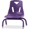 "Berries Stacking Chair - Steel Frame - Four-legged Base - Purple - Polypropylene - 15.5"" Width x 16.5"" Depth x 17.5"" Height"