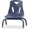 "Berries Stacking Chair - Steel Frame - Four-legged Base - Navy - Polypropylene - 15.5"" Width x 16.5"" Depth x 17.5"" Height"