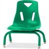 "Berries Stacking Chair - Steel Frame - Four-legged Base - Green - Polypropylene - 15.5"" Width x 16.5"" Depth x 17.5"" Height"