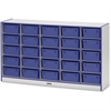 "Rainbow Accents Mobile Tub Storage - 25 Compartment(s) - 35.5"" Height x 60"" Width x 15"" Depth - Blue - Hard Rubber - 1Each"