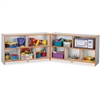 "Rainbow Accents Fold-n-Lock Storage Shelf - 35.5"" Height x 96"" Width x 15"" Depth - Orange - Hard Rubber - 1Each"