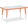 """Berries Elementary Height Color Edge Rectangle Table - Rectangle Top - Four Leg Base - 4 Legs - 36"""" Table Top Length x 24"""" Table Top Width x 1.13"""" Table Top Thickness - 24"""" Height - Assembly Required"""
