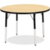 "Berries Elementary Height Color Top Round Table - Round Top - Four Leg Base - 4 Legs - 1.13"" Table Top Thickness x 36"" Table Top Diameter - Assembly Required - Powder Coated - Steel"