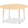 "Berries Toddler Height Maple Top/Edge Round Table - Round Top - Four Leg Base - 4 Legs - 1.13"" Table Top Thickness x 36"" Table Top Diameter - 15"" Height - Assembly Required - Powder Coated - Steel"