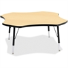 "Berries Toddler Black Edge Four-leaf Table - Four Leg Base - 4 Legs - 1.13"" Table Top Thickness x 48"" Table Top Diameter - 15"" Height - Assembly Required - Powder Coated - Steel"