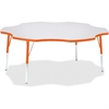 """Berries Prism Six-Leaf Student Table - Four Leg Base - 4 Legs - 1.13"""" Table Top Thickness x 60"""" Table Top Diameter - 31"""" Height - Assembly Required - Powder Coated - Steel"""