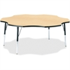 "Berries Toddler Black Edge Six-leaf Table - Four Leg Base - 4 Legs - 1.13"" Table Top Thickness x 60"" Table Top Diameter - 15"" Height - Assembly Required - Powder Coated - Steel"