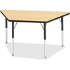 "Berries Adult-sz Classic Color Trapezoid Table - Trapezoid Top - Four Leg Base - 4 Legs - 48"" Table Top Length x 24"" Table Top Width x 1.13"" Table Top Thickness - 31"" Height - Assembly Required - Powd"